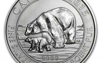 2015 CANADA 1.5 OZ SILVER $8 POLAR BEAR & CUB